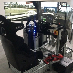 Sim racing cockpit by Sim Race Components